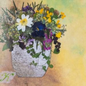 「庭の花を摘んで」渡辺和江