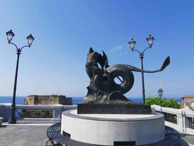 la piazza principale di Scilla (Calabria)