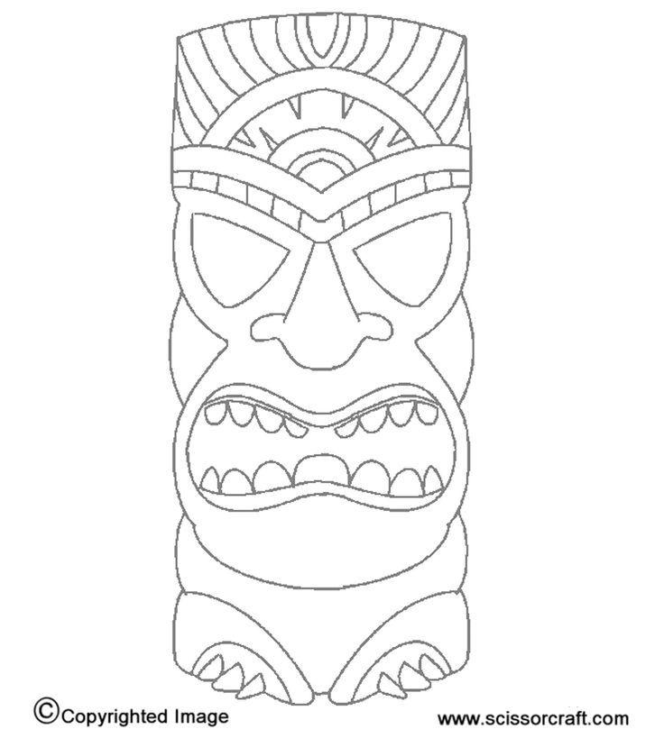 Free Printable Tiki Mask Coloring Pages, Download Free
