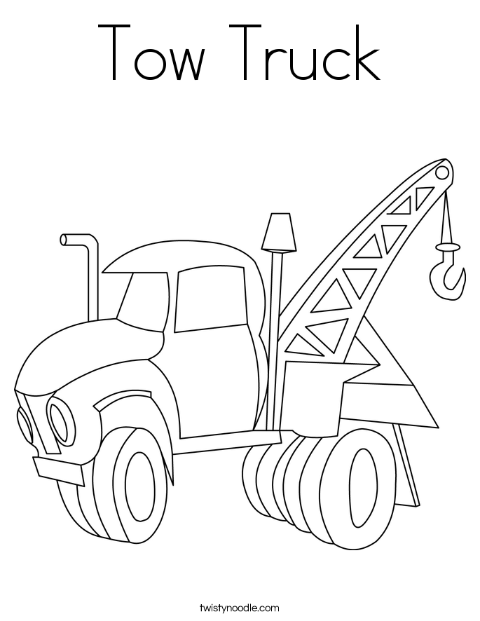 Tow Truck Coloring Page : truck, coloring, Trucks, Coloring, Pages,, Download, Clipart, Library