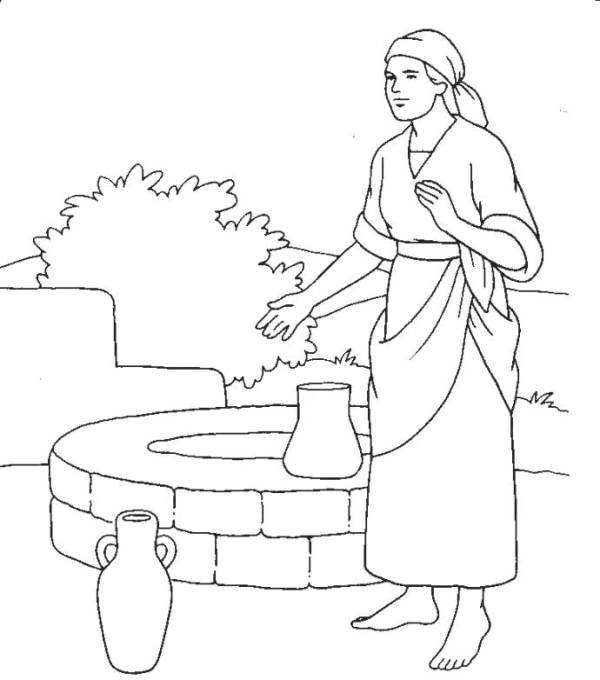 woman at the well coloring page # 22