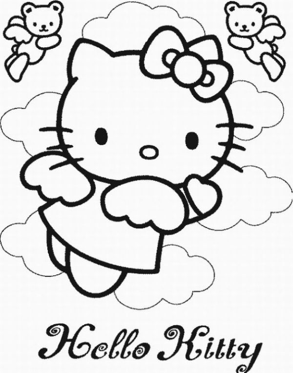 hello kitty coloring pages that you can print # 63