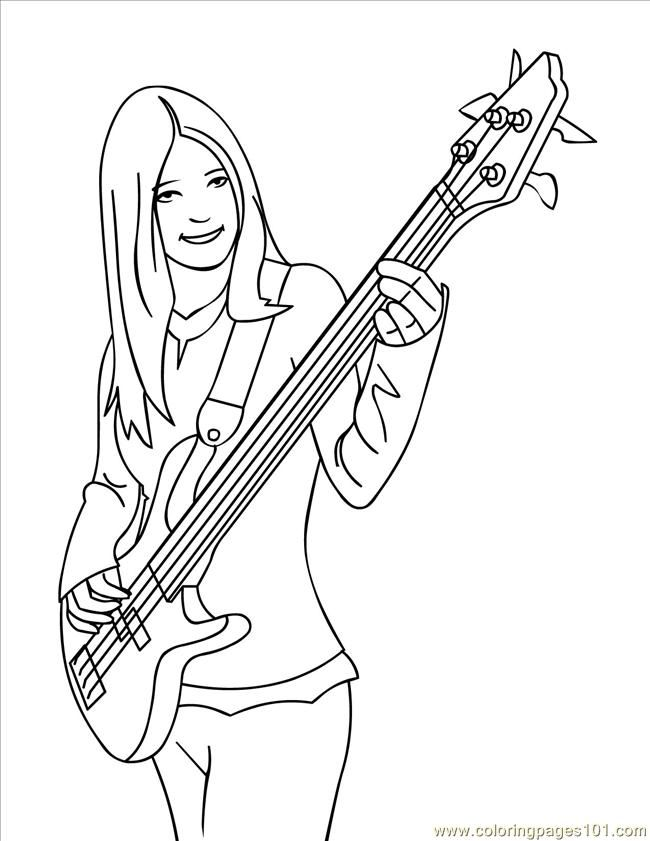 Free Guitar Coloring Sheet Download Free Clip Art Free Clip Art On Clipart Library