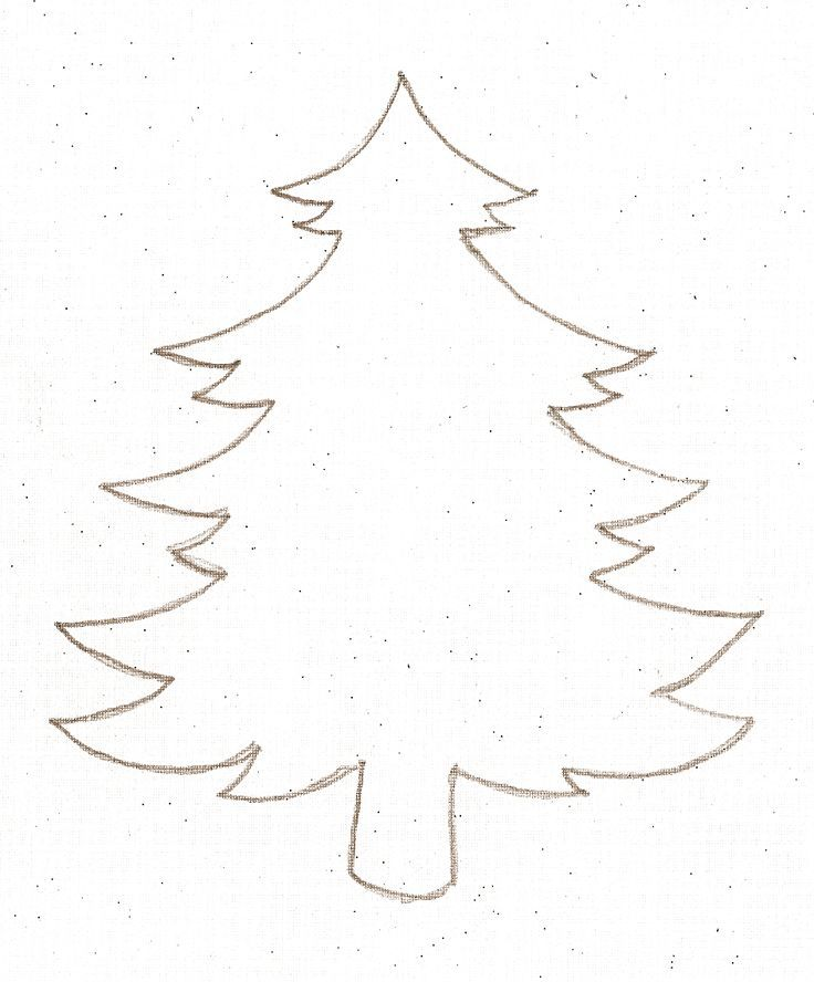 Free Christmas Tree Outlines Download Free Clip Art Free Clip Art On Clipart Library