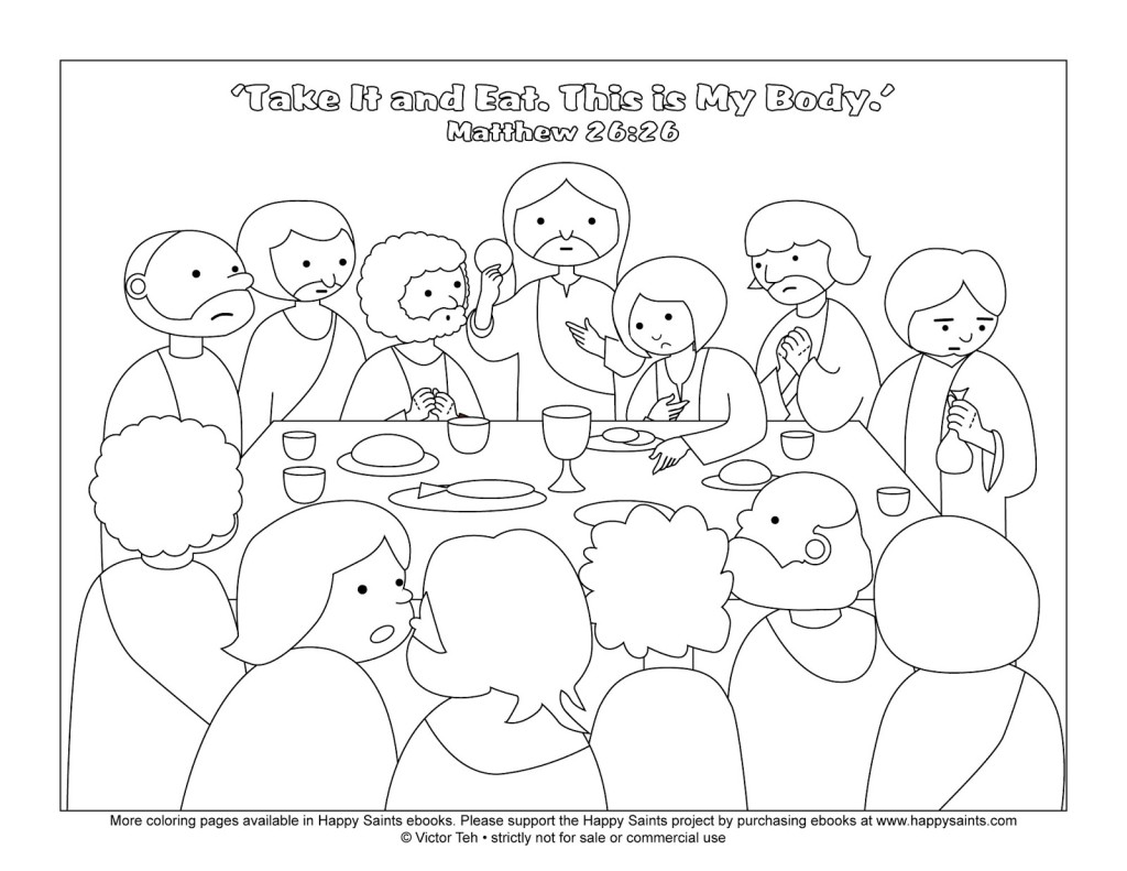 Free The Last Supper Coloring Page Download Free Clip Art
