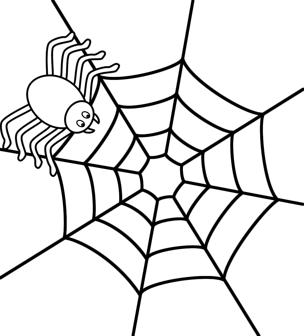 Black And White Spider Coloring Page