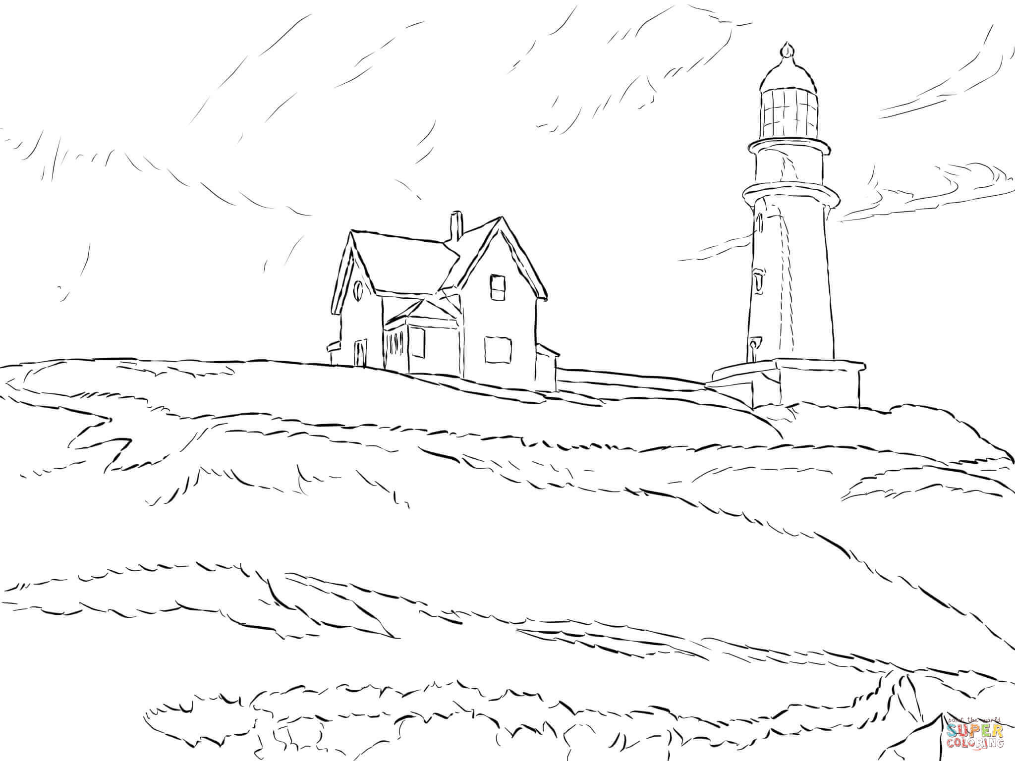 Free Realistic Lighthouse Coloring Pages Download Free