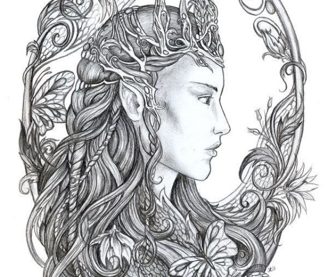 Free Fantasy Fairy Coloring Pages Download Free Clip Art Free