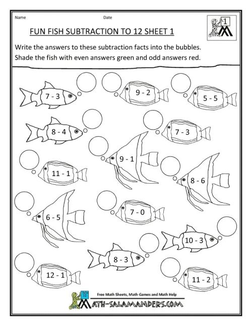 small resolution of Free Addition And Subtraction Coloring Pages