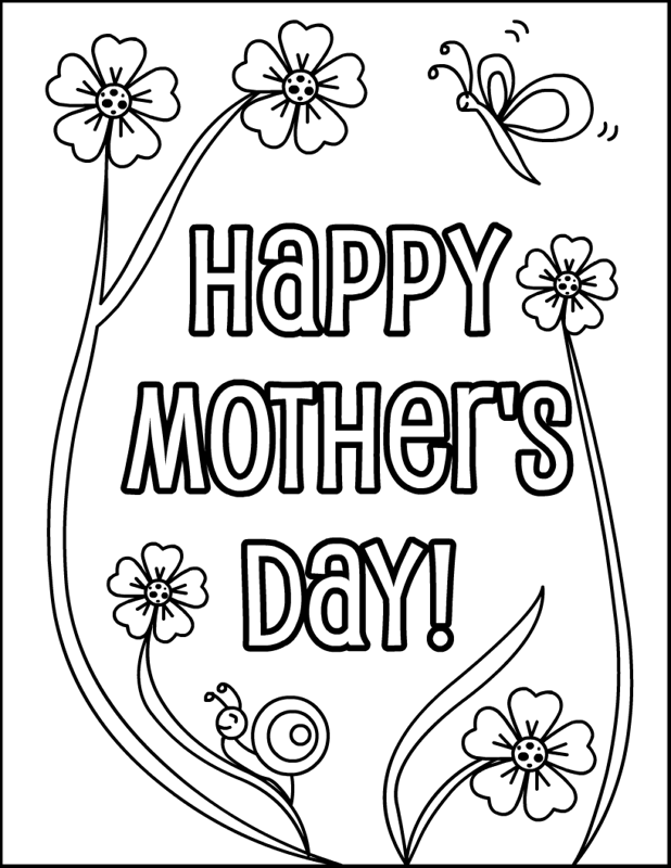 Free Happy Mothers Day Coloring Pictures Download Free Clip Art Free Clip Art On Clipart Library
