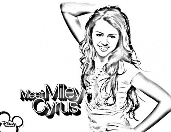 hannah montana coloring pages # 28