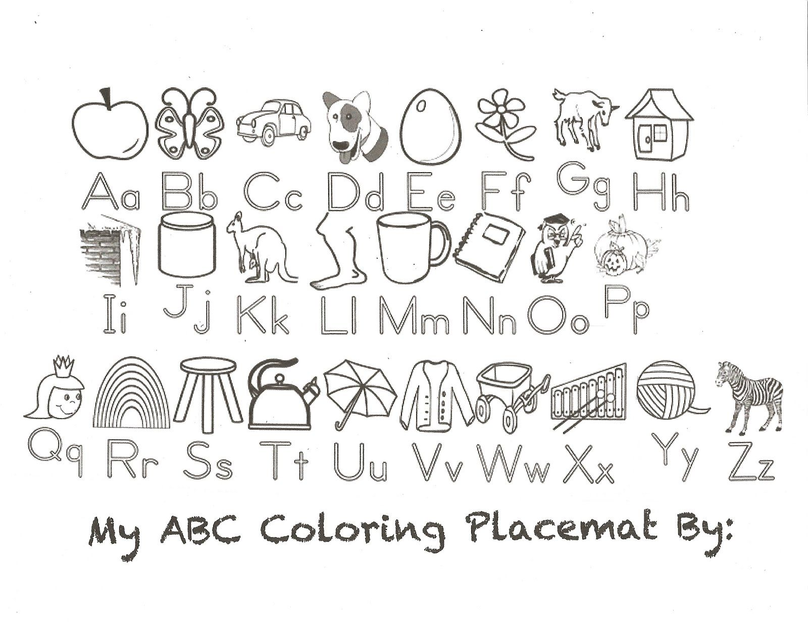 Free Free Printable Alphabet Coloring Pages A Z Download