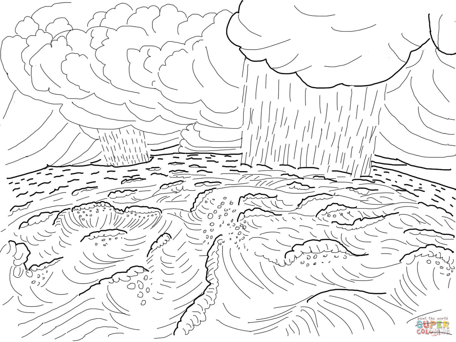 Free Coloring Pages For Creation Day 2 Download Free Clip