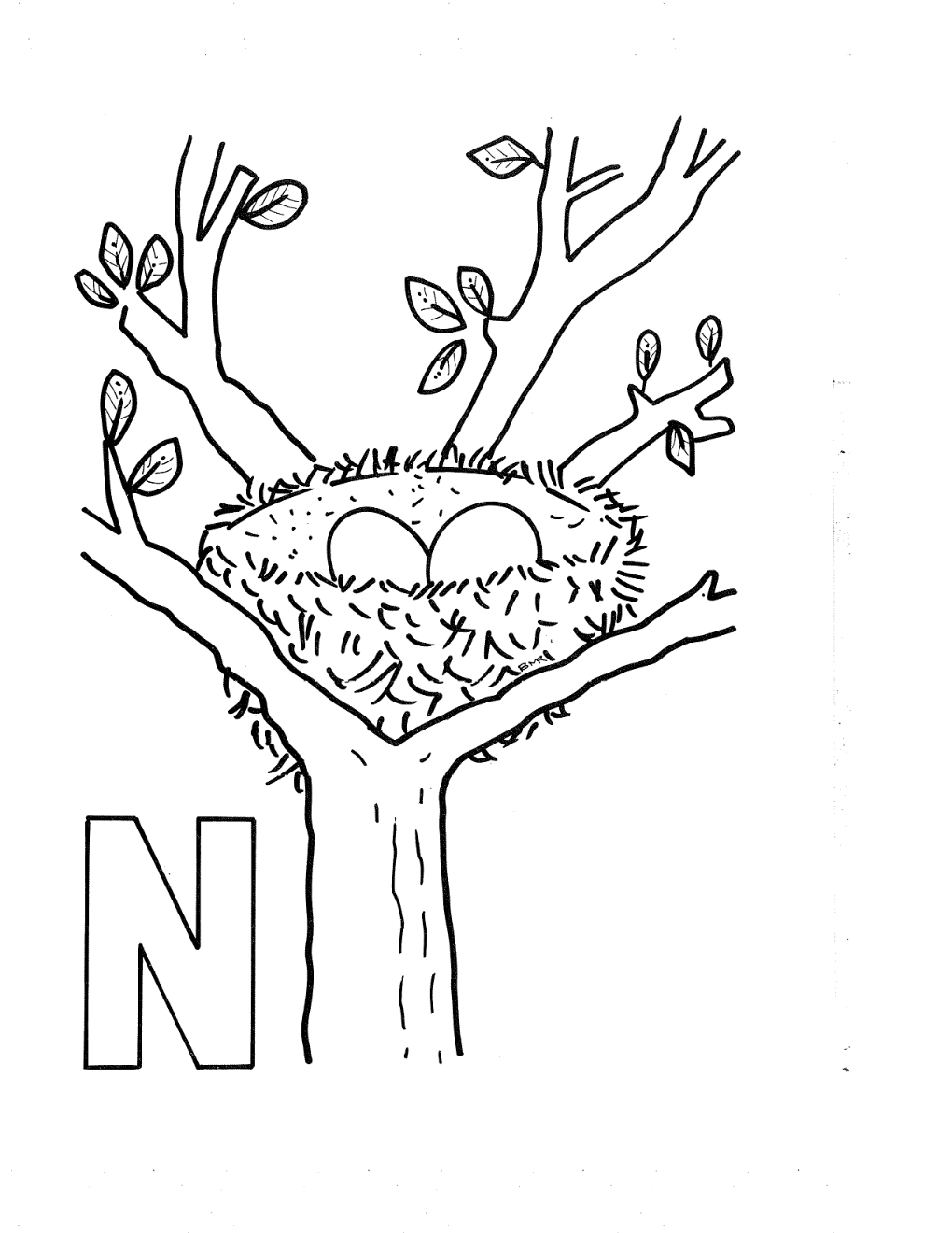 Free Letter N Coloring Pages Preschool, Download Free Clip