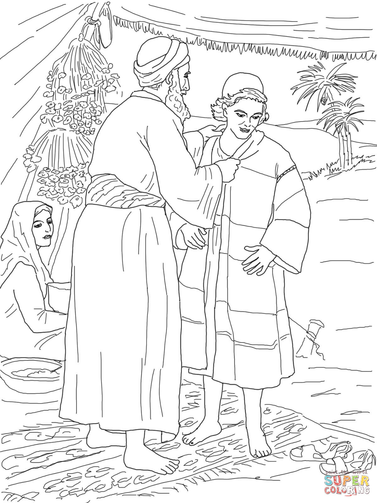 Free Josephs Coat Of Many Colors Coloring Page, Download