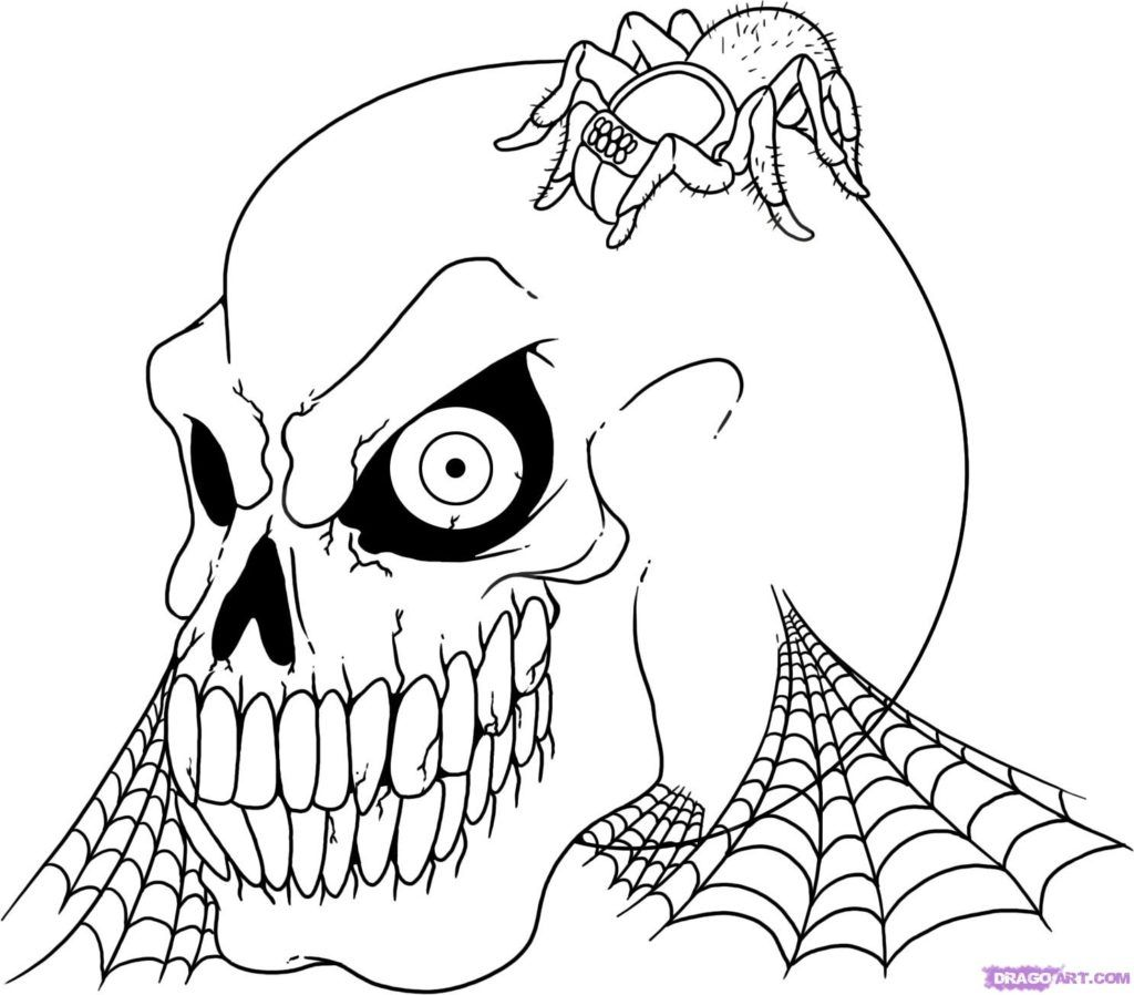 Free Halloween Coloring Pages Free Printable Scary
