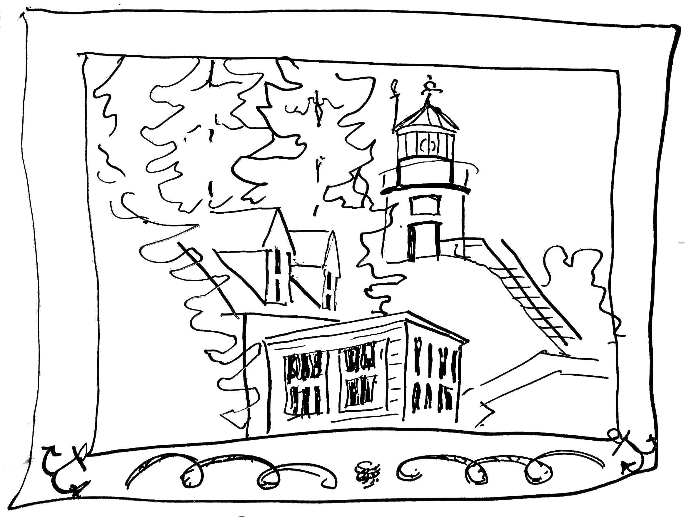 Free Beach Qnd Lighthouse Coloring Pages, Download Free