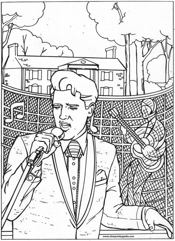 Elvis Presley Coloring Pages : elvis, presley, coloring, pages, Elvis, Presley, Coloring, Pages,, Download, Clipart, Library