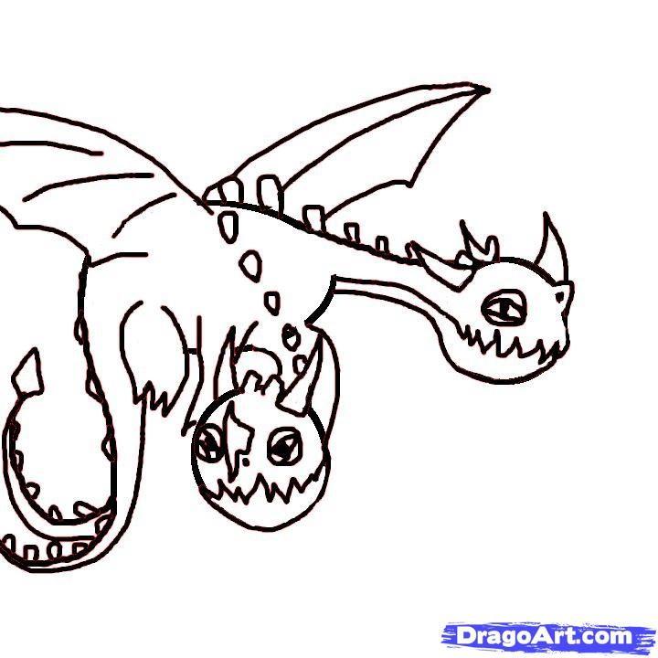Malvorlage Dragons 3