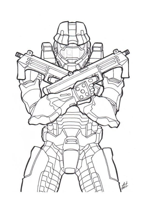 coloring pages halo # 7