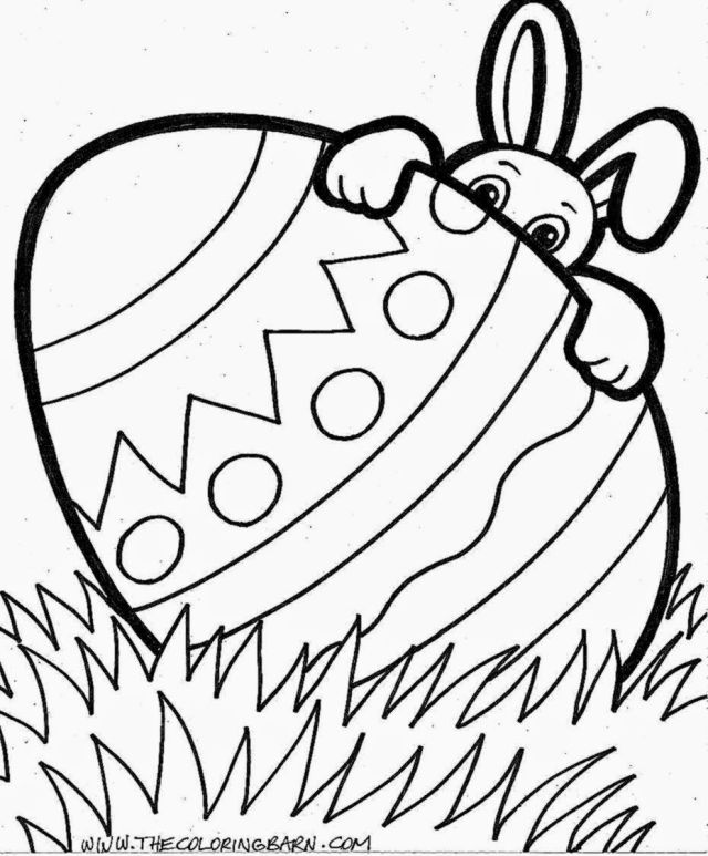 easter egg coloring pages - Clip Art Library