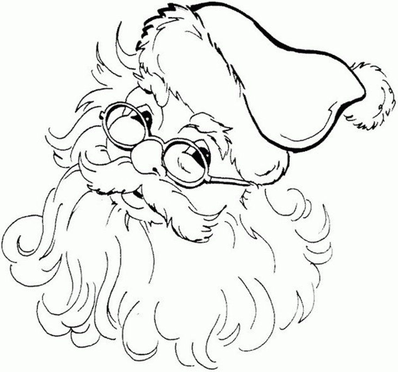 Free Santa Coloring Pages For Free Download Free Clip