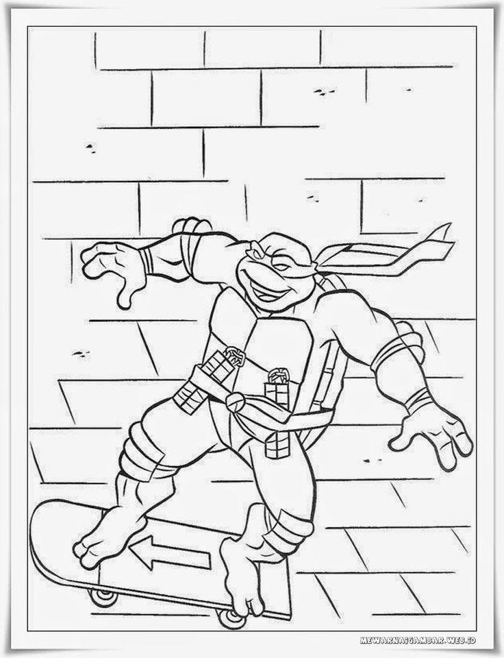 Gambar Kura Kura Untuk Mewarnai : gambar, untuk, mewarnai, Printable, Ninja, Turtles, Colouring, Pages, Library
