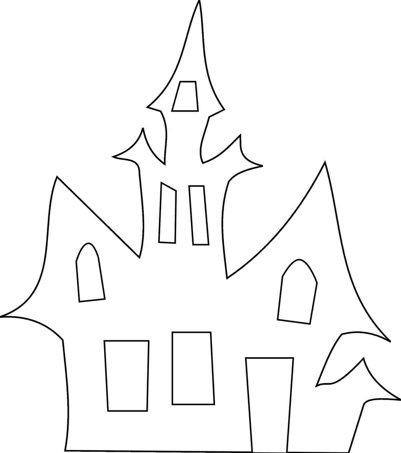 Haunted House Halloween Template