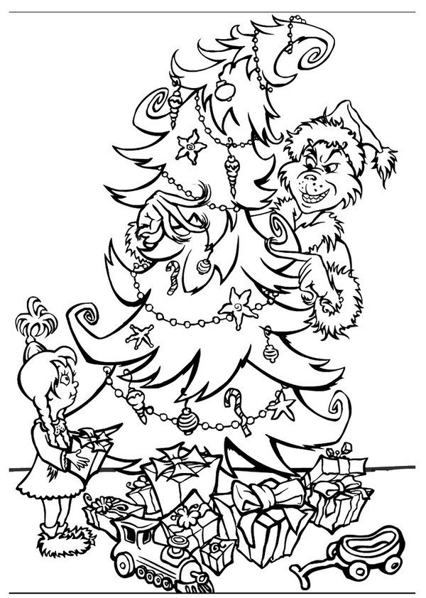 Free Grinch Coloring Pages : grinch, coloring, pages, Grinch, Christmas, Coloring, Pages, Library