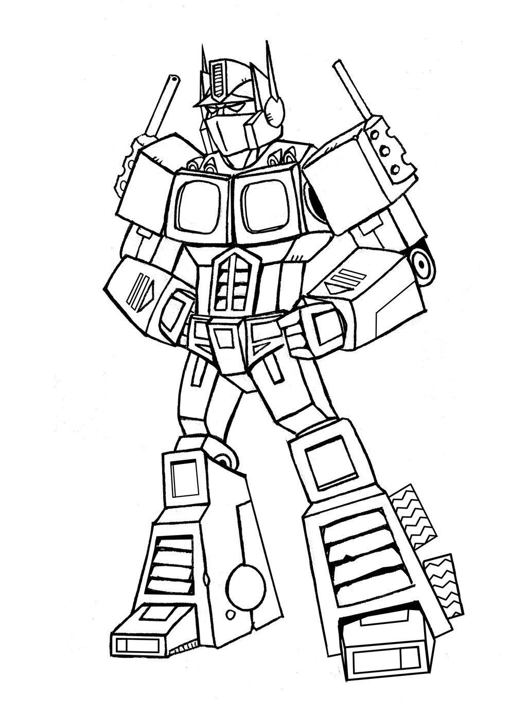 Optimus Prime Drawing Easy : optimus, prime, drawing, Transformer, Optimus, Prime, Drawing, Library