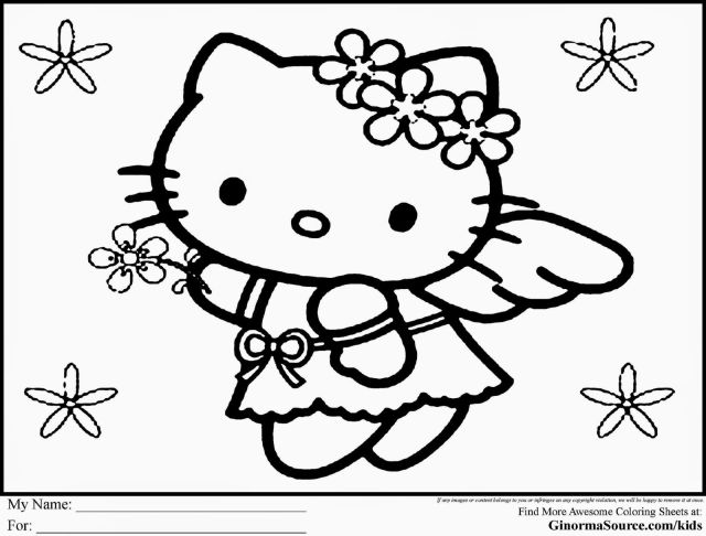 hello kitty coloring pages - Clip Art Library
