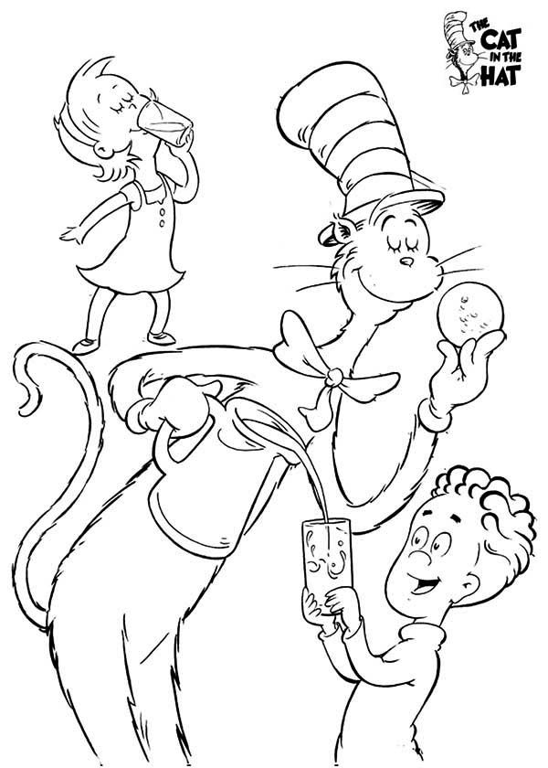 the cat in the hat coloring pages # 34