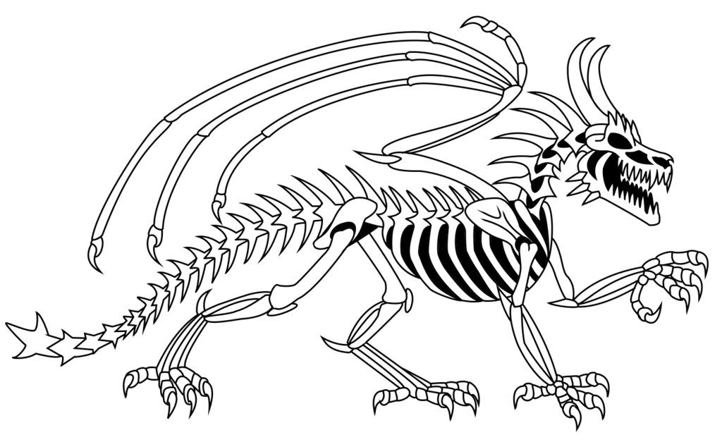 Free Skeleton Dragon Coloring Pages Download Free Clip Art Free Clip Art On Clipart Library