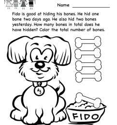 Free Math Coloring Pages For Kindergarten [ 1035 x 800 Pixel ]