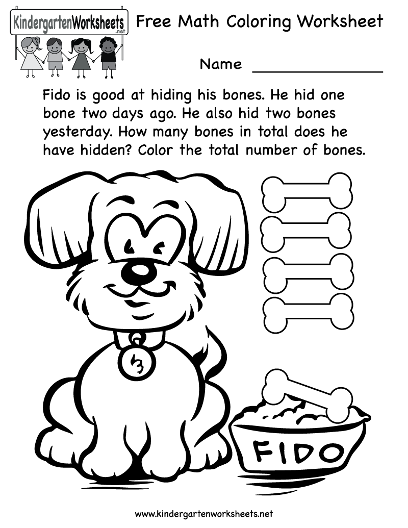 hight resolution of Free Math Coloring Pages For Kindergarten
