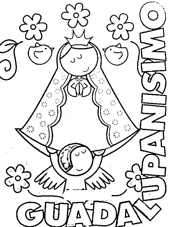 our lady of guadalupe coloring page # 49