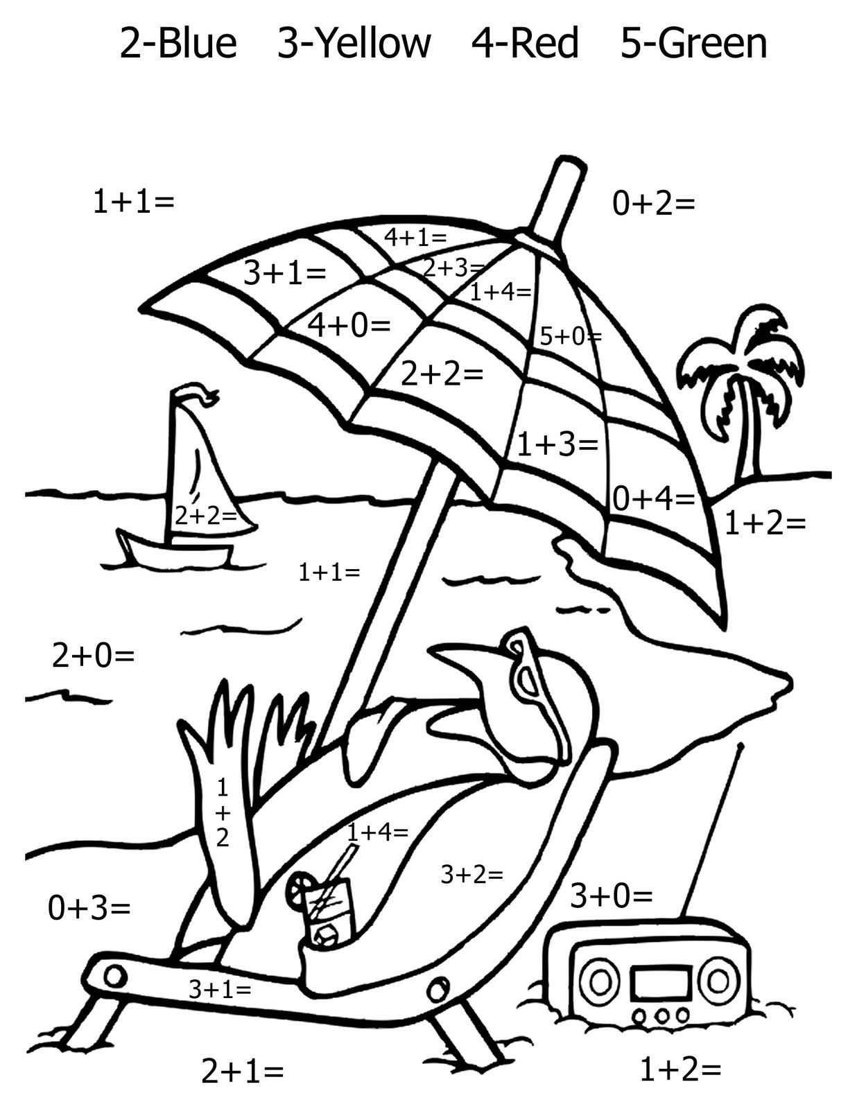 hight resolution of Free Addition And Subtraction Coloring Pages