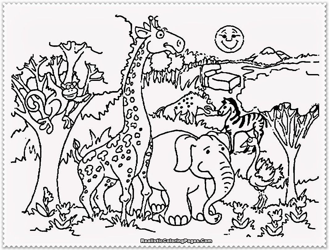 Free Zoo Animal Coloring Pages Printable Download Free