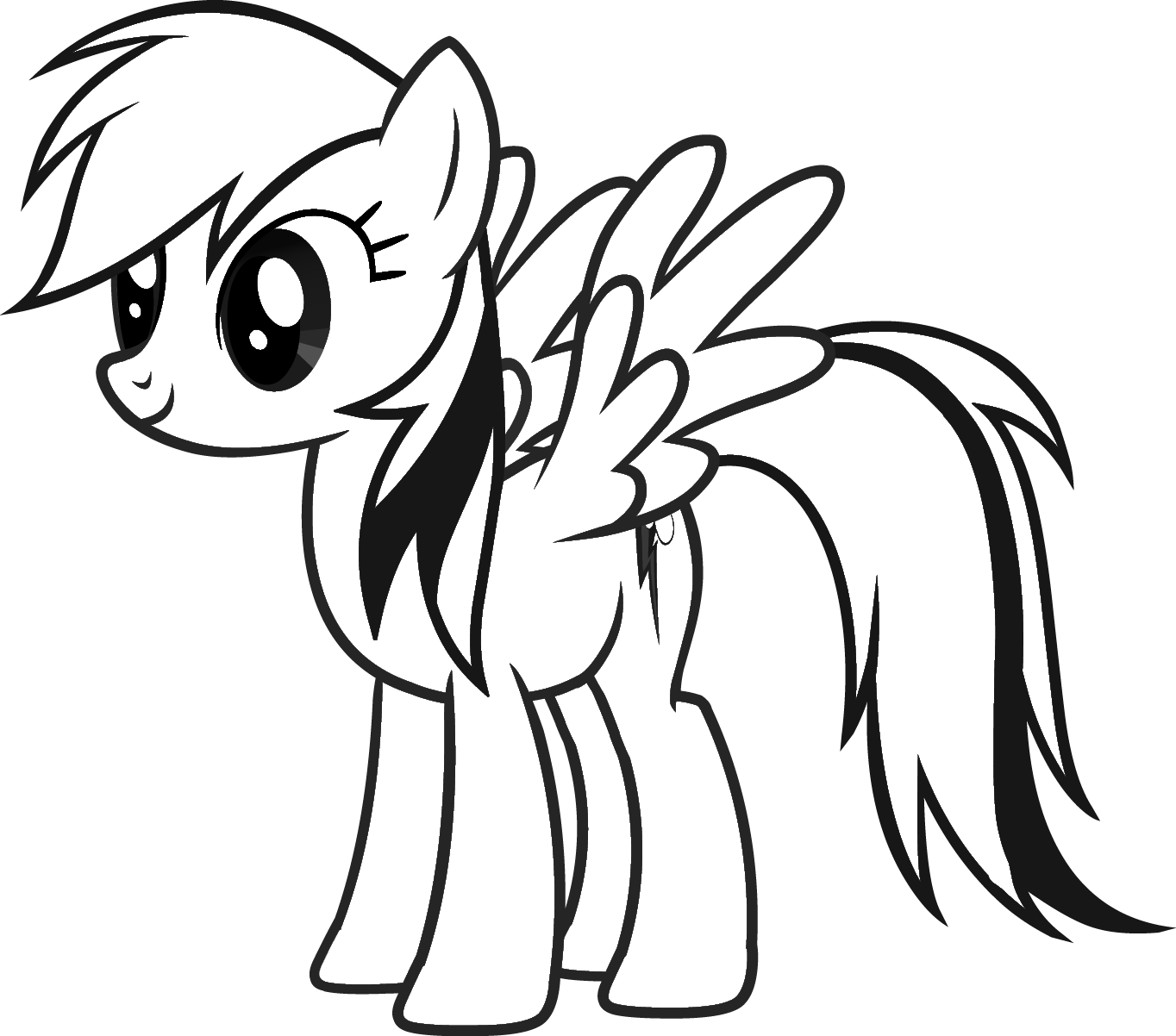 Free Coloring Pages For Rainbow Dash Download Free Clip