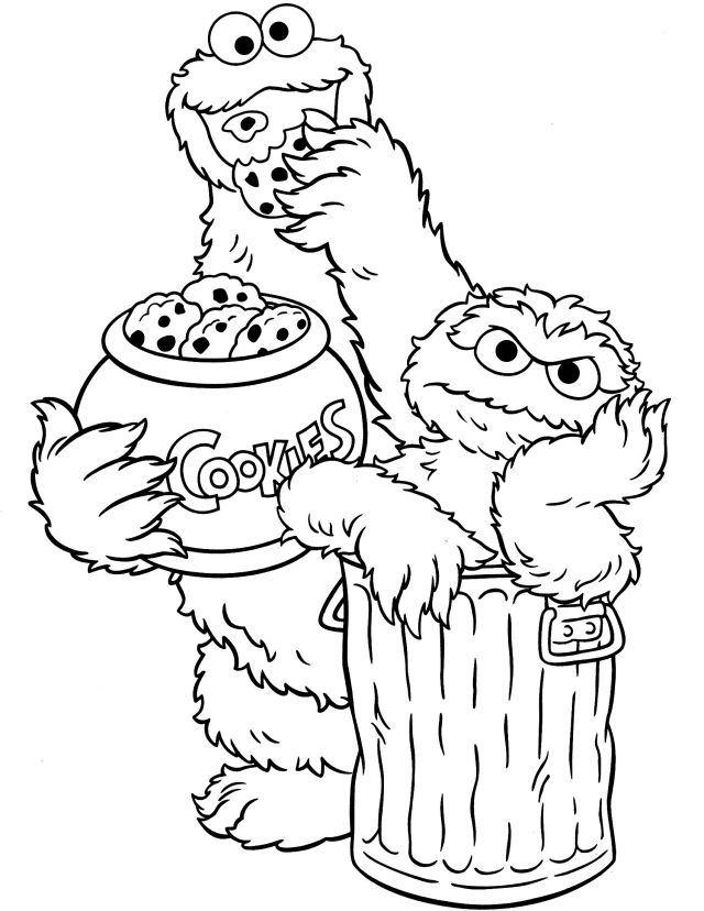 printable sesame street oscar coloring pages - Clip Art Library
