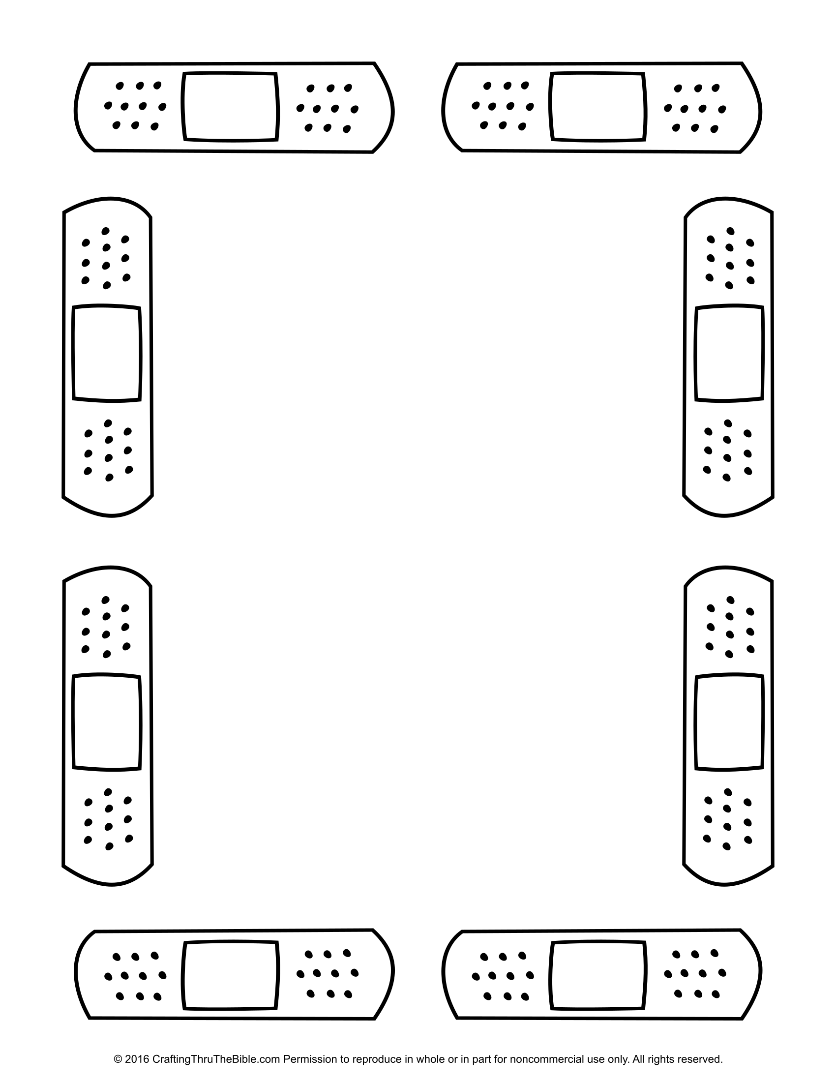 Free Band Aid Coloring Page Download Free Clip Art Free
