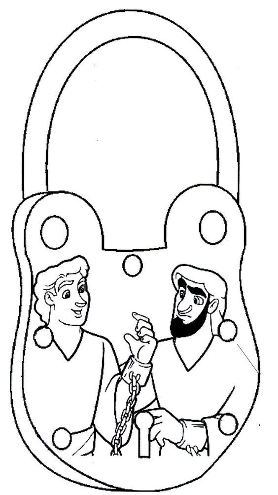 Free Paul And Silas In Jail Free Coloring Page, Download