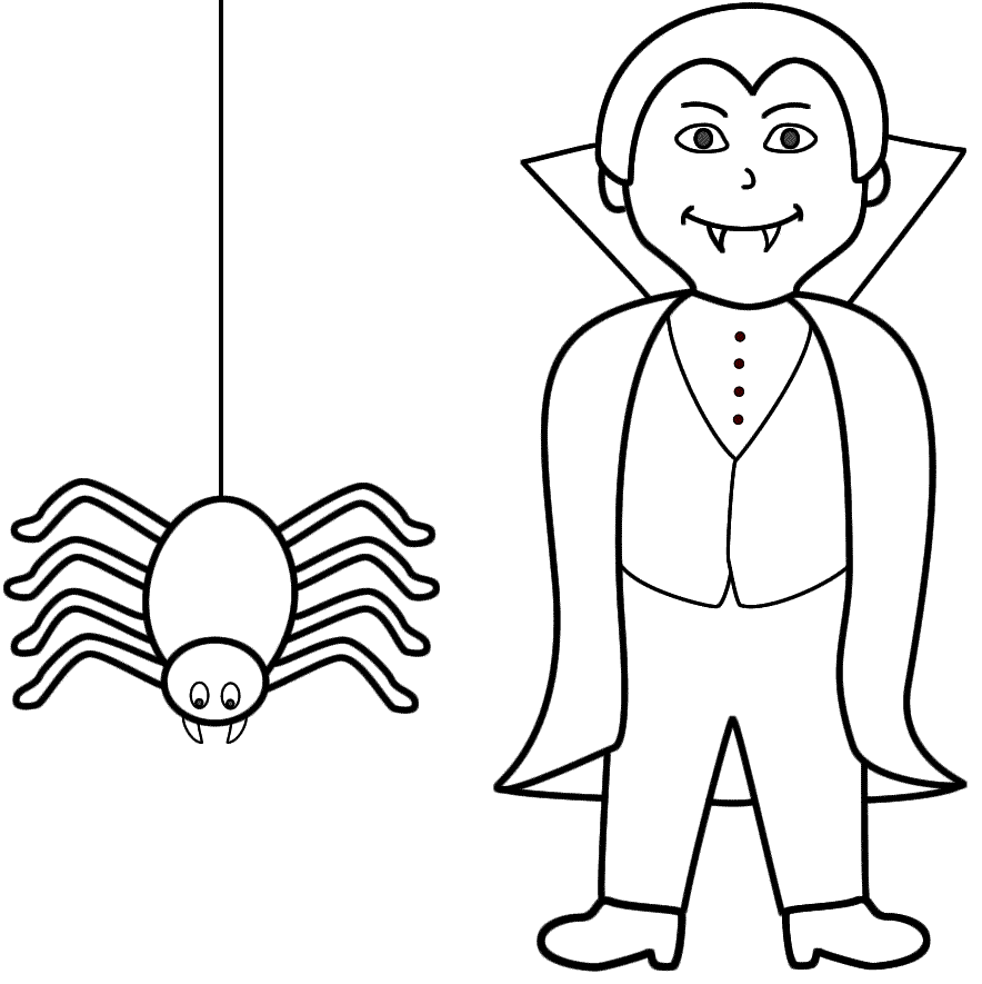Free Halloween Vampire Coloring Pages Download Free Clip Art Free Clip Art On Clipart Library