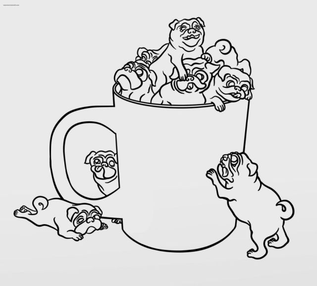 pug puppy coloring page - Clip Art Library