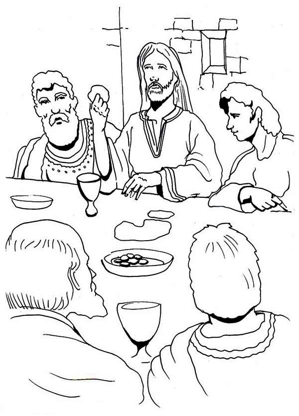 Free The Last Supper Coloring Page, Download Free Clip Art