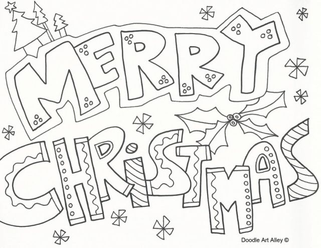 Free Merry Christmas Coloring Pages Free, Download Free Merry