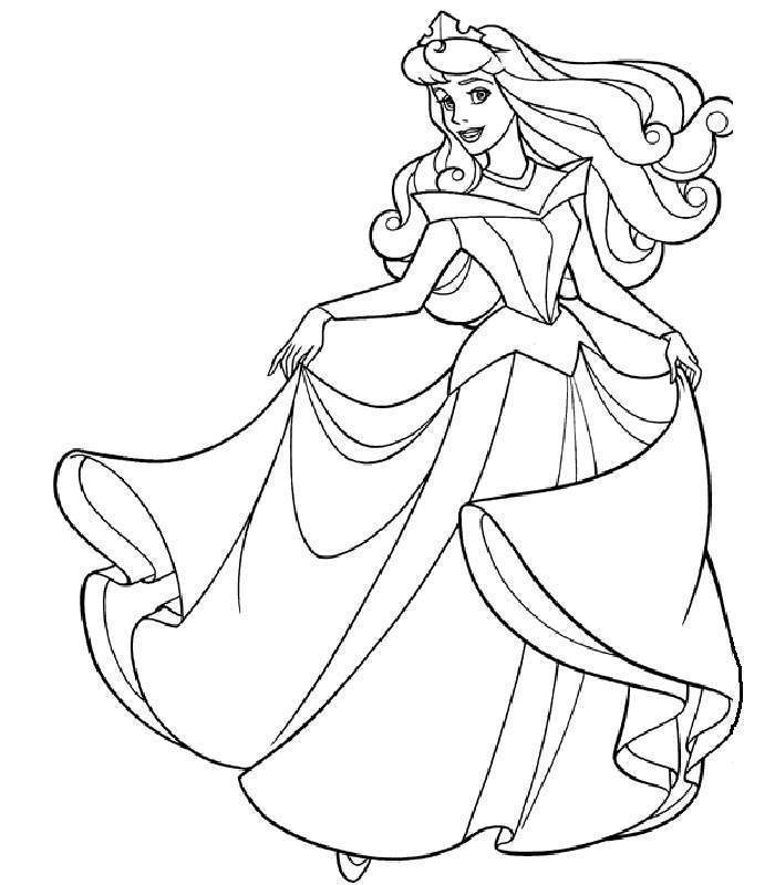 Sleeping Beauty Coloring Pages Clip Art Library