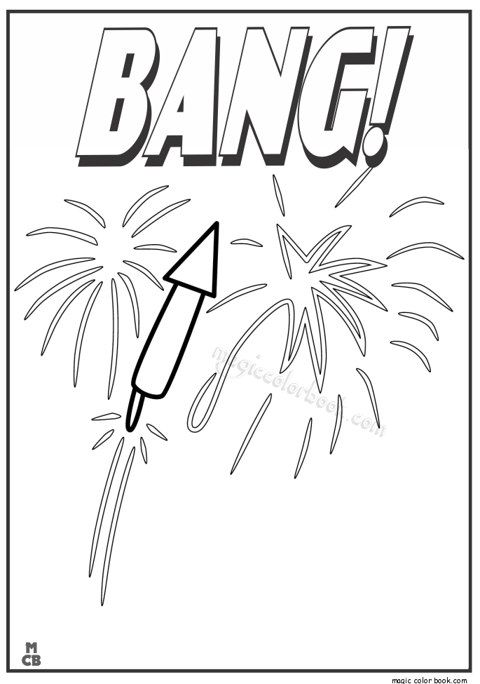 Free Free Download Firework Coloring Pages, Download Free