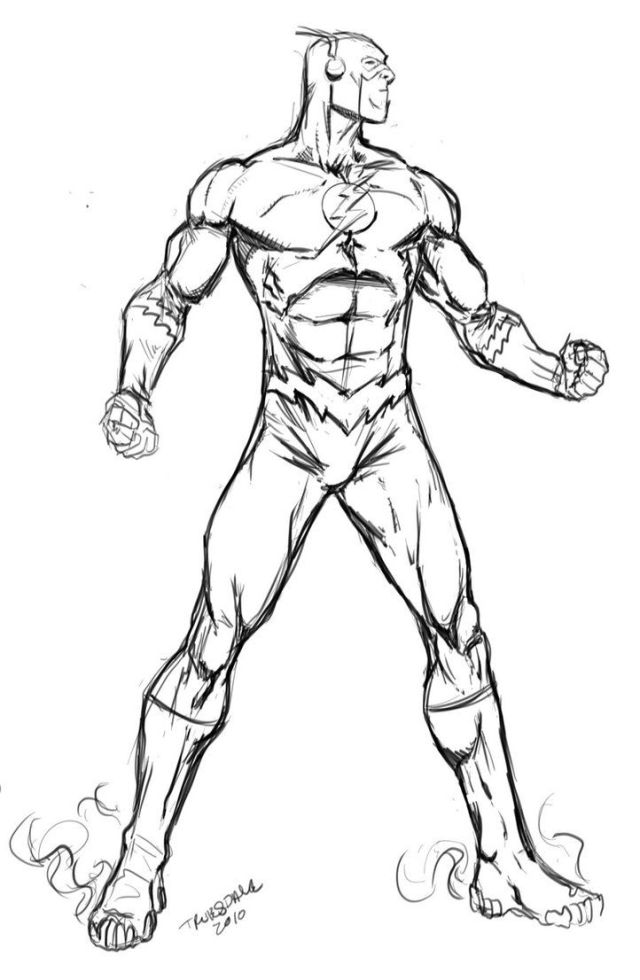 flash coloring pages - Clip Art Library