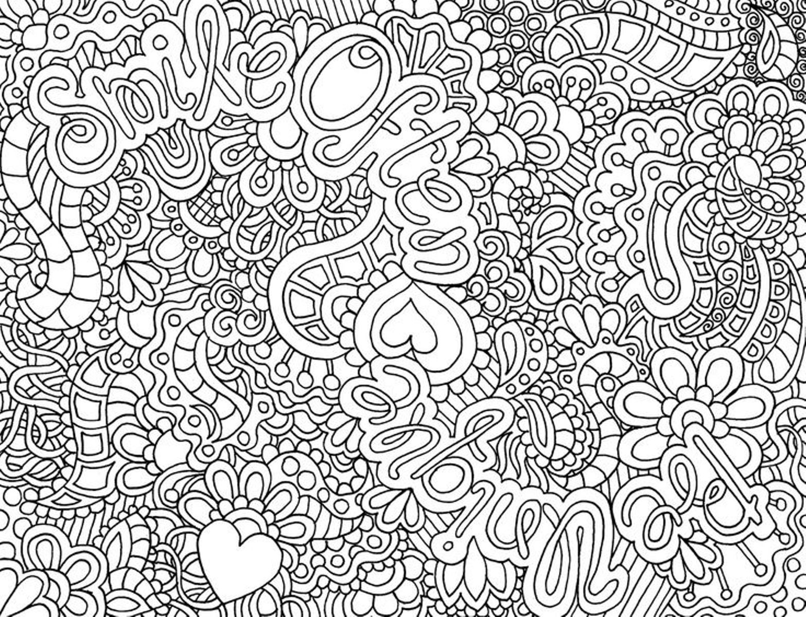 Free Fun Coloring Pages For Teenagers Printable Download